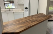 STUNNING  Walnut Counter for serving or dining