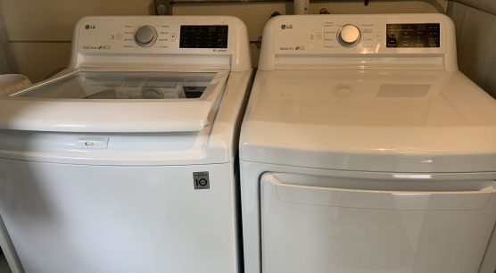 New washer/ Dryer in shed